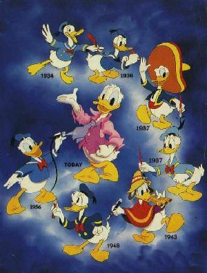 Donald duck evolution